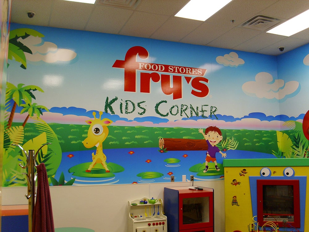 Corporate Graphics - Fry's Food Stores Kids Corner wall wrap