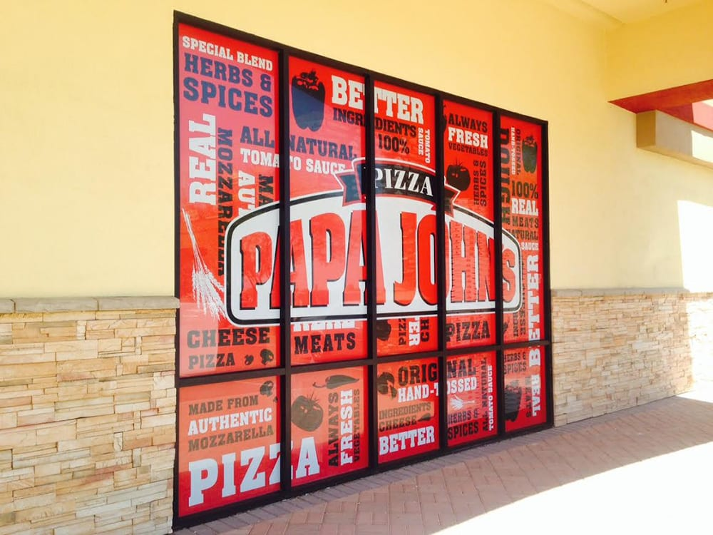 Storefront Window Graphics - Papa John's Pizza