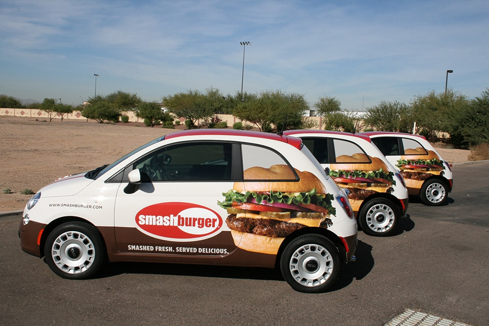 Fleets Wraps - Smashburger fleet graphics & wraps