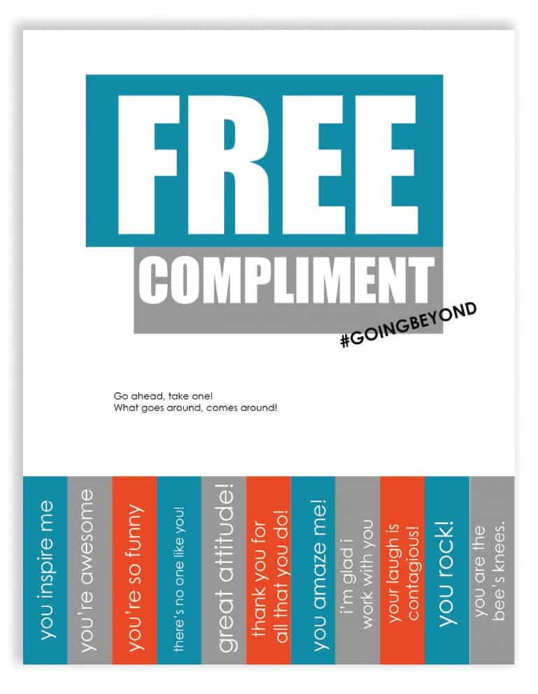 Free Compliment Poster