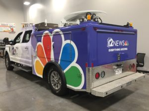 news station vehicle wrap