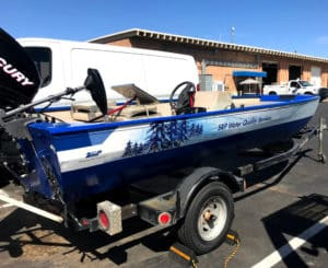 azpro vehicle wrap boating wrap