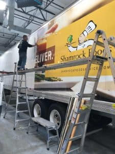 Shamrock Foods Truck Trailer Wrap