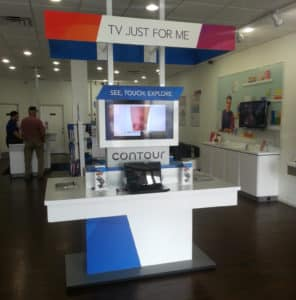 custom retail graphics kiosk