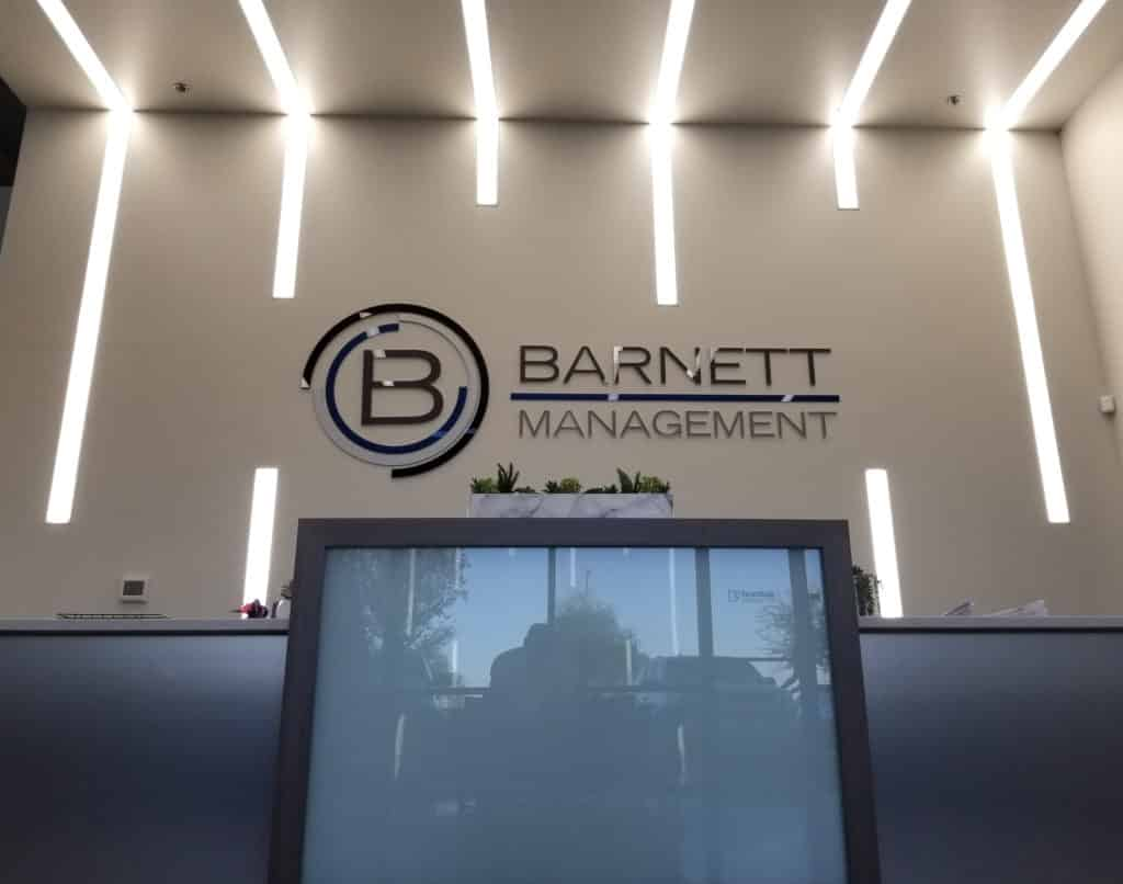 Barnett corporate decor window graphics