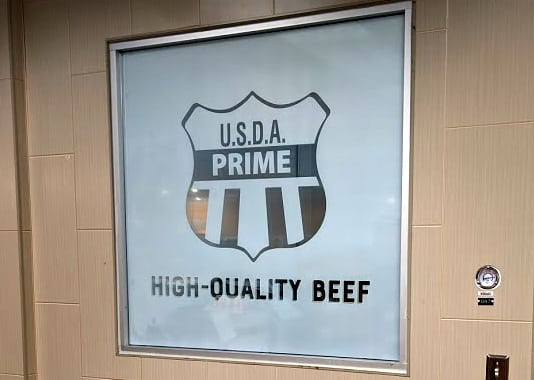 Butcher retail window graphics
