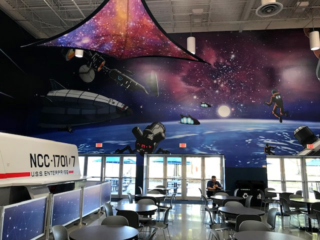 NASA corporate decor grpahics