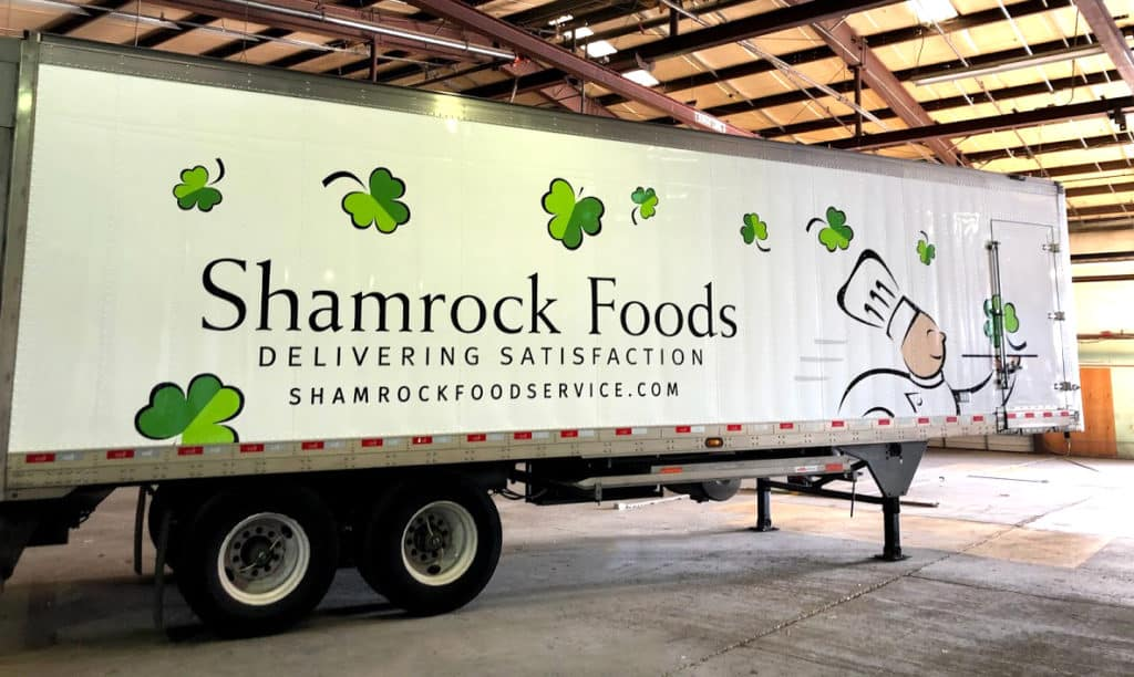 Shamrock foods Fleet & vehicle wrap