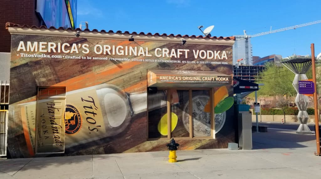 Tito's retail graphics