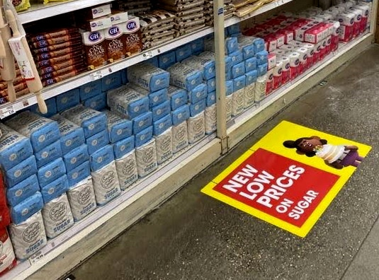 retail floor clings